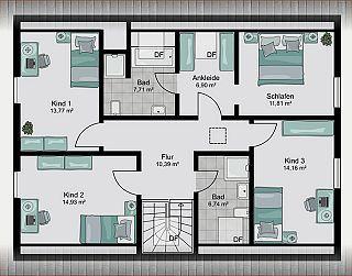 streif hausentwurf generation generationen wohnen zwei generationen wohnen grundrisse. Black Bedroom Furniture Sets. Home Design Ideas