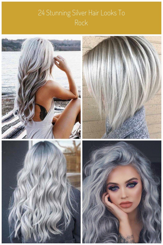 silber hair 18 Stunning Silver Hair Looks to Rock   Hair styles ...