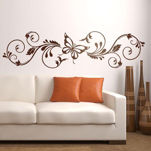 Adesivi murali floreali Brexia Templates Pinterest Walls - wandtattoo für wohnzimmer