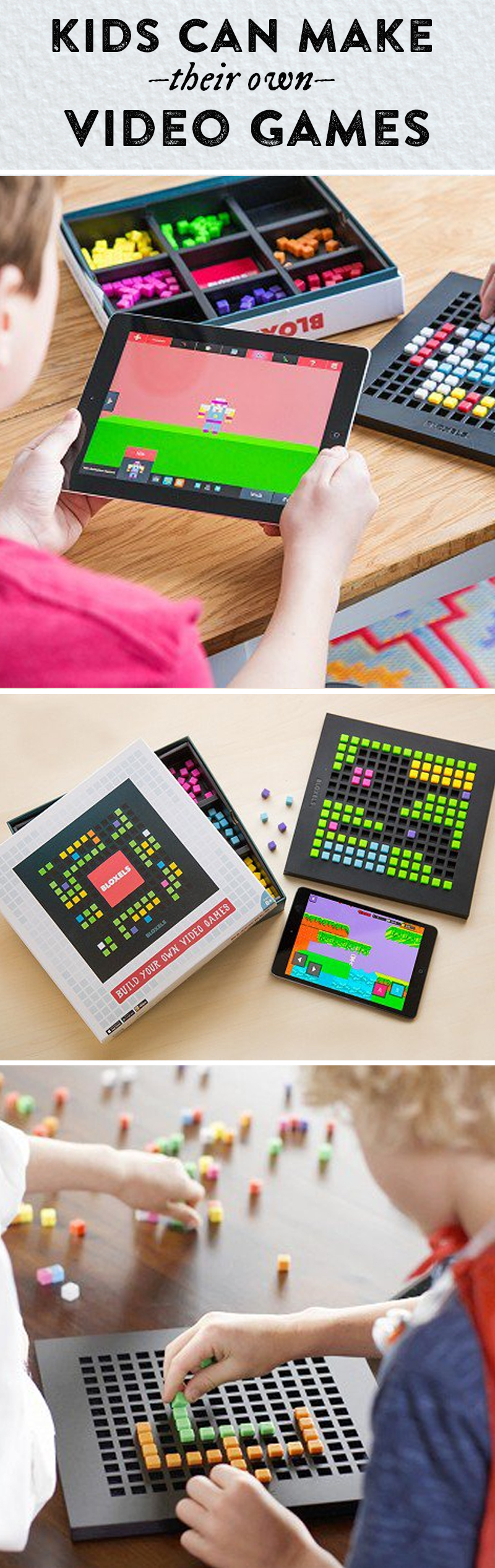 Kids design their own video gameswith physical blocks on