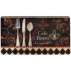 image of Soothing Chef 20-Inch x 36-Inch Le Café Bistro Anti-Fatigue Kitchen Mat