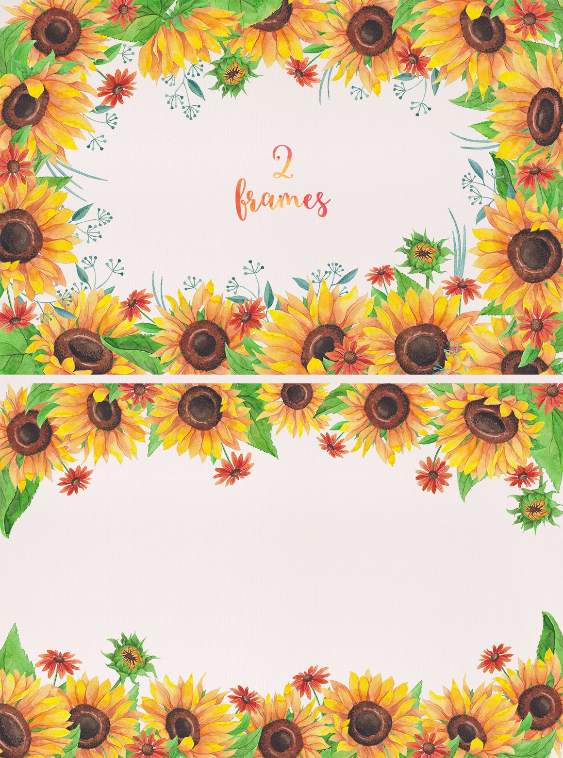 Watercolor Sunflowers by Stella's Graphic Supply on ...
