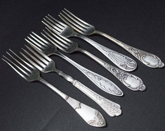 vintage Making silverplate flatware crafts with