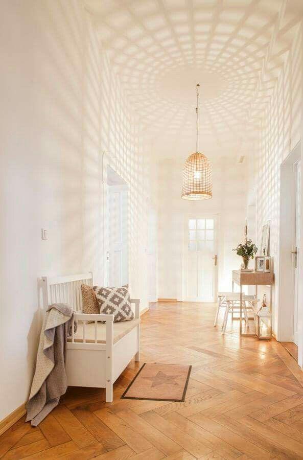 White pattern Light furture家具 Pinterest Pasillos, Casas