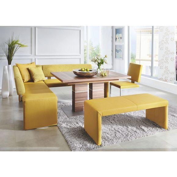 ECKBANK in Textil Gelb Kitchen design and Kitchens