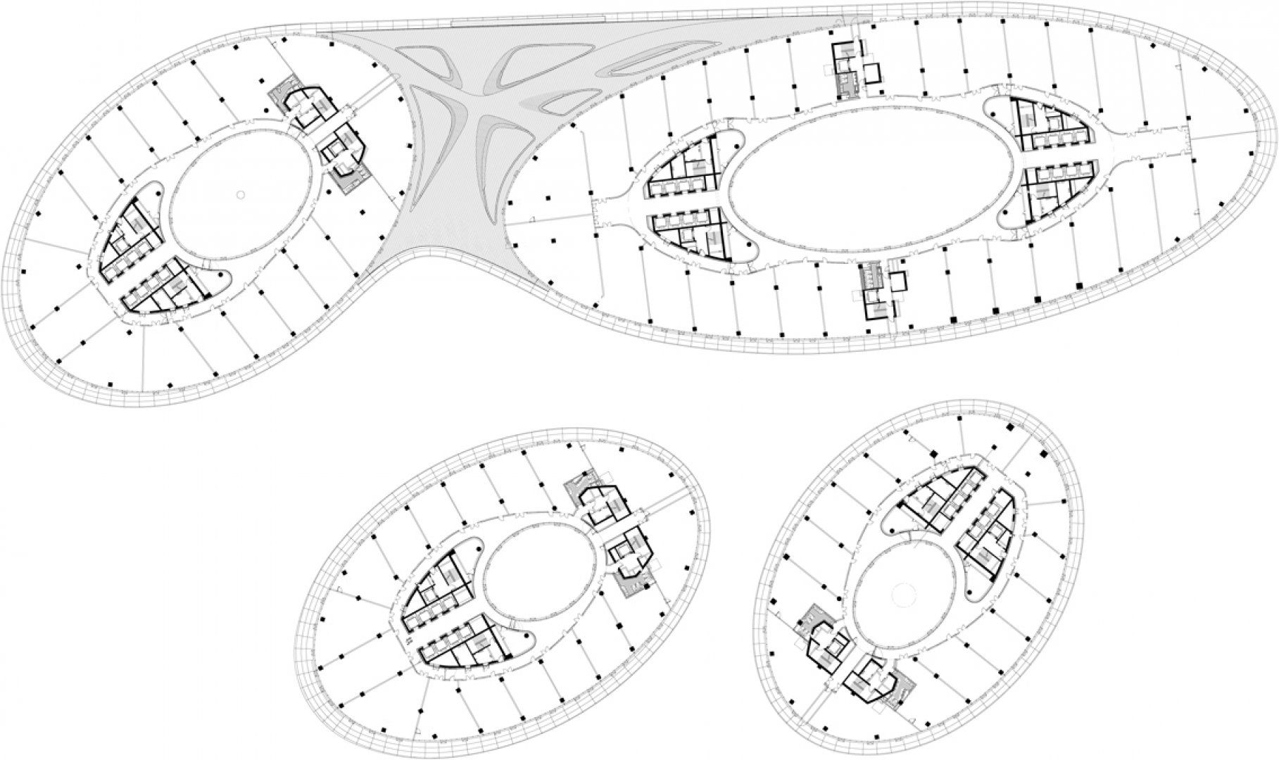 Organic Architecture Floor Plans Zaha Hadid Soho Galaxy Plans Sections Pinterest