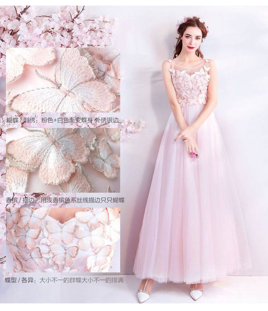 Buy Fioridi Butterfly Embroidered Sleeveless Aline Evening Gown Yesstyle: Erfly Embroidered Wedding Dress At Reisefeber.org