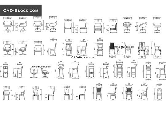 Chairs Elevation Free Autocad Blocks Blocks Office