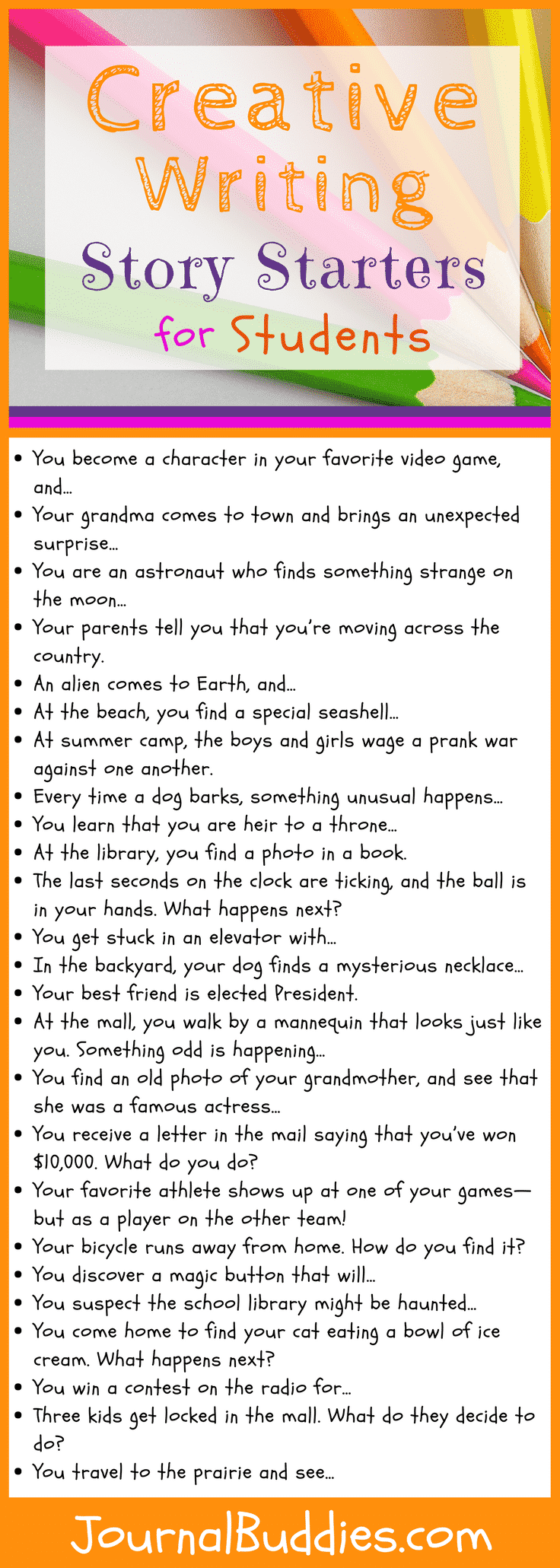 Creative Writing Story Starters For Students Creative Writing Stories Writing Prompts For Kids Writing Club [ 2061 x 736 Pixel ]