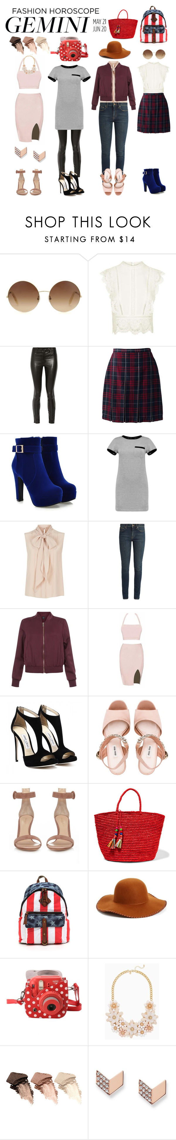 """gemini"" by jammis7 ❤ liked on Polyvore featuring Victoria Beckham, Topshop, J Brand, Lands' End, Boohoo, MaxMara, Yves Saint Laurent, New Look, Miu Miu and Gianvito Rossi"