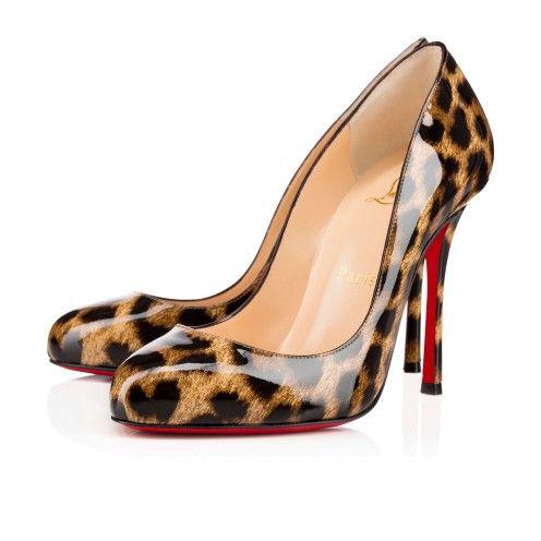 044243080d52 Souliers Femme - Merci Allen Vernis Leopardino 50s - Christian Louboutin