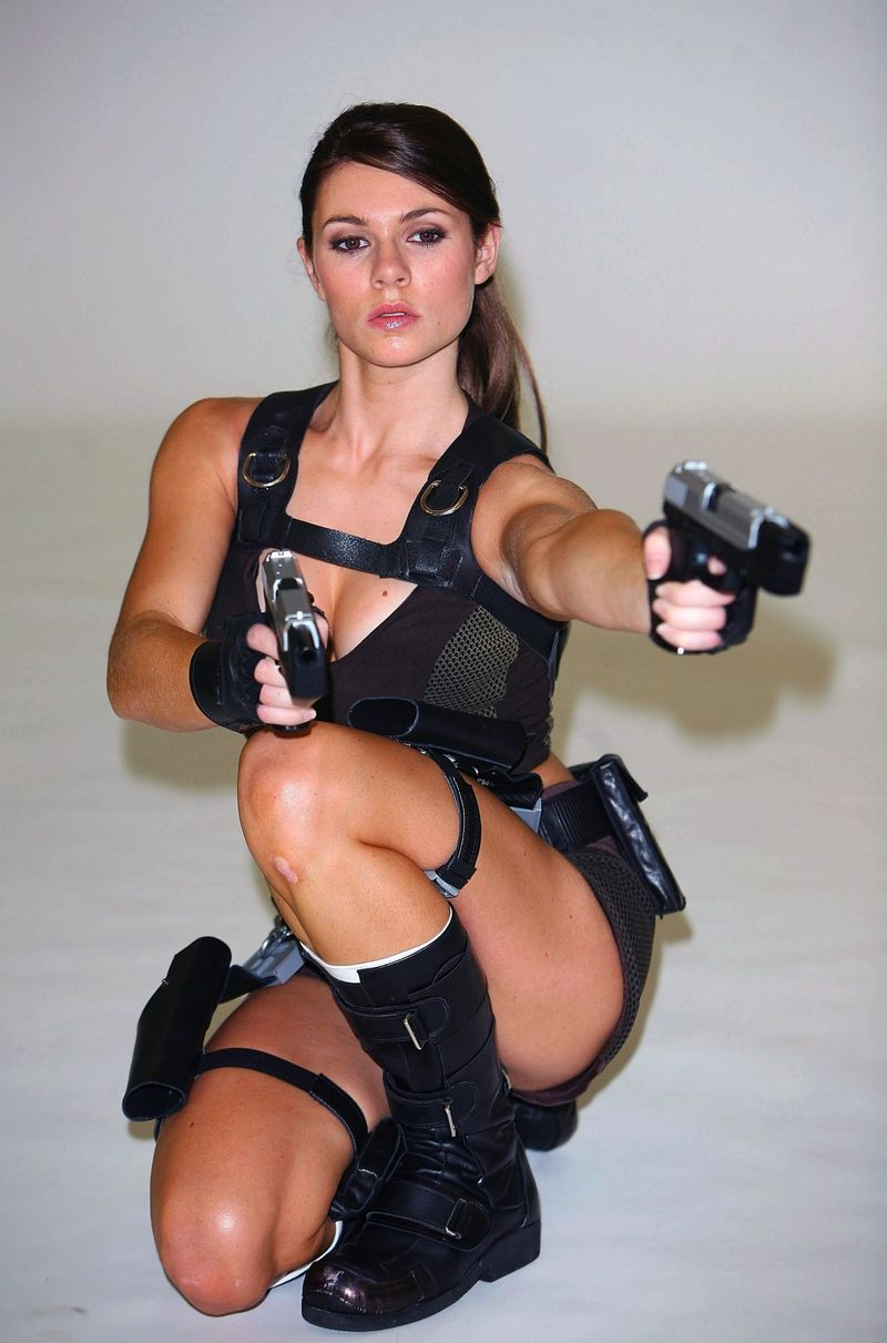 Nude with guns hot girls wallpaper