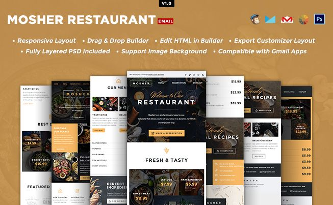 mosher responsive email template builder access pinterest