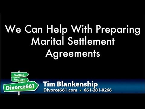 California Divorce Marital Settlement Agreement This Video Is