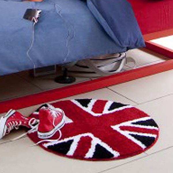 Union Jack Red White Black Round Bedroom Rug Erin S Room