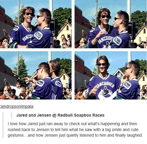 [gifset] Little brother Jared and big brother Jensen