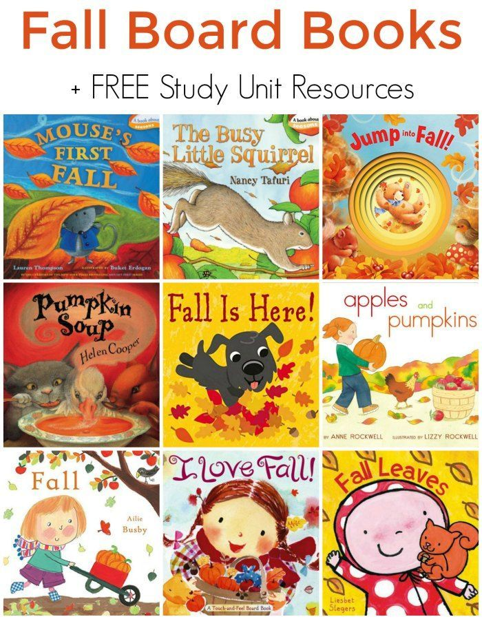 fall board books for preschoolers free study unit resources