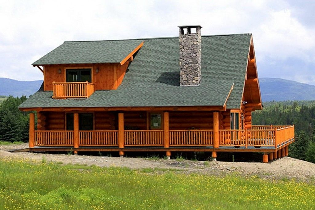 Mountain Laurel - Log Home / Cabin Plans--Maybe include a wrap ...