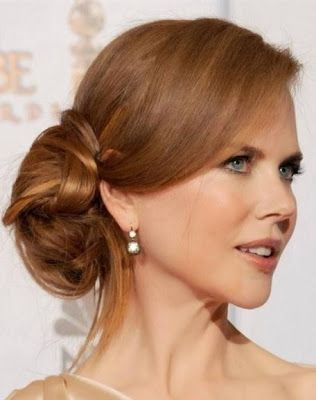 Nicole hair hairstyles celebrities greendust hair pinterest red carpet hairstyles classic side soft bun easy to do yourself solutioingenieria Image collections