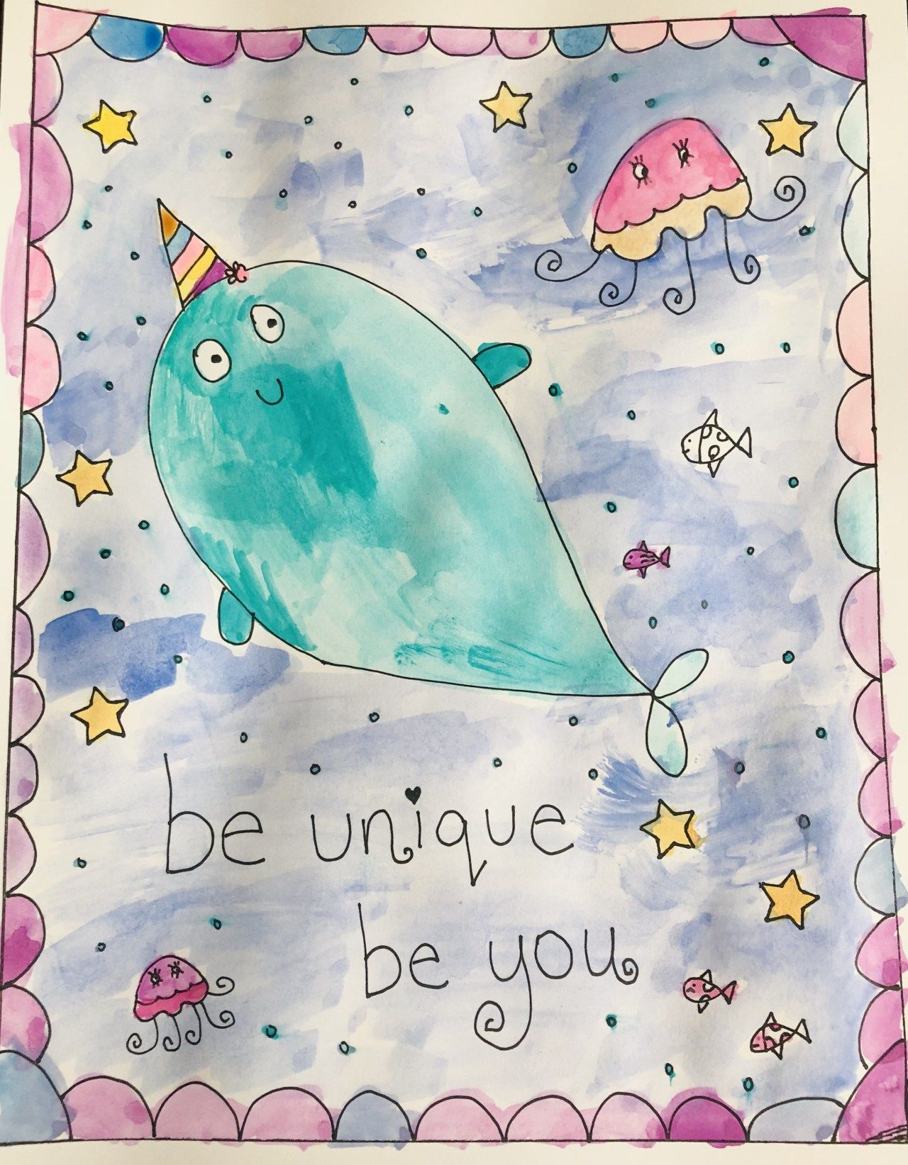 Just Narwhal Book Review and Printable Coloring Page