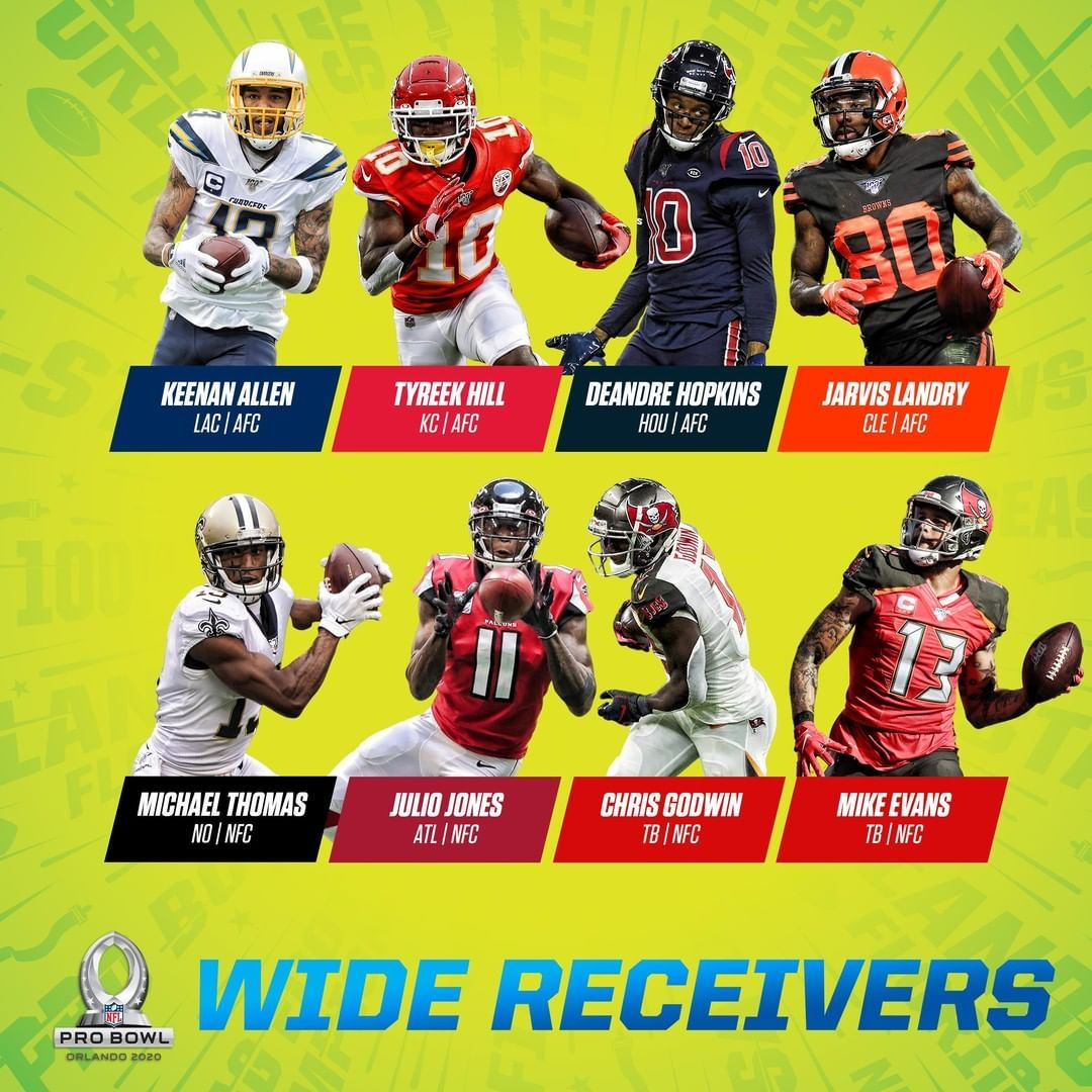 Nfl 2020 Probowl Wide Receivers Big4 Bigfour Big4 Bigfour Big4 Bigfour Football Nationalfootballleague N Wide Receiver Nfl Receiver