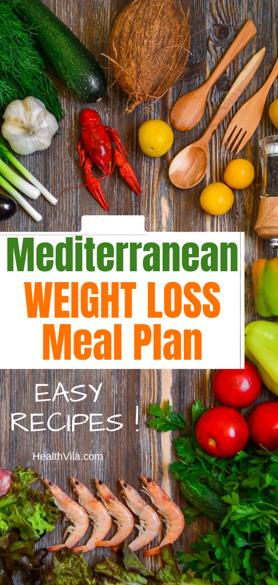 Mediterranean Diet Weight Loss Meal Plan Recipes