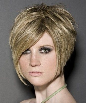 short stacked hairstyles | Stacked Haircut Classic Bob Back View ...