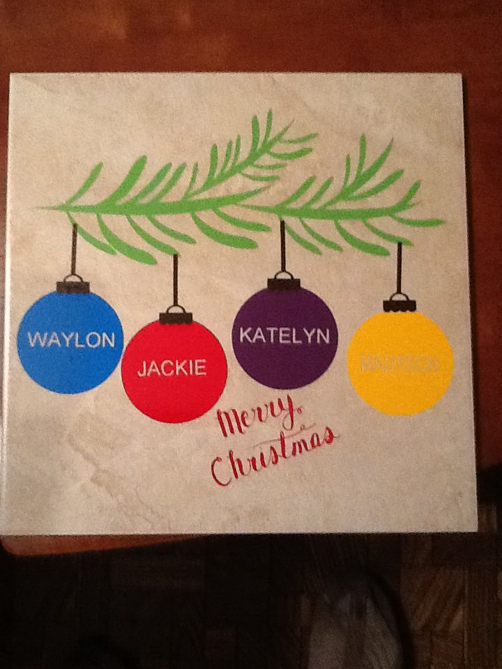 Christmas Tile Made With My Silhouette Silhouette Cameo