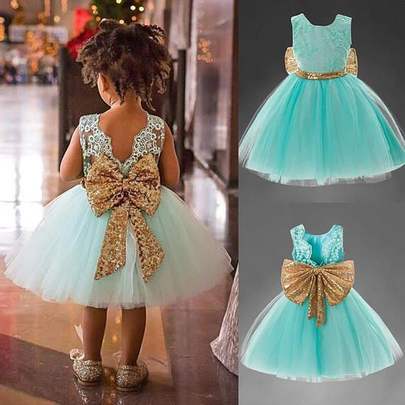 eadc712d272 Girls special occasion dress Baby Frock Designs Lace Christening Gown Gold  Bow Baby Girl 1 Year First Birthday Outfit Toddler Infant Party Dress Kids  Baby ...
