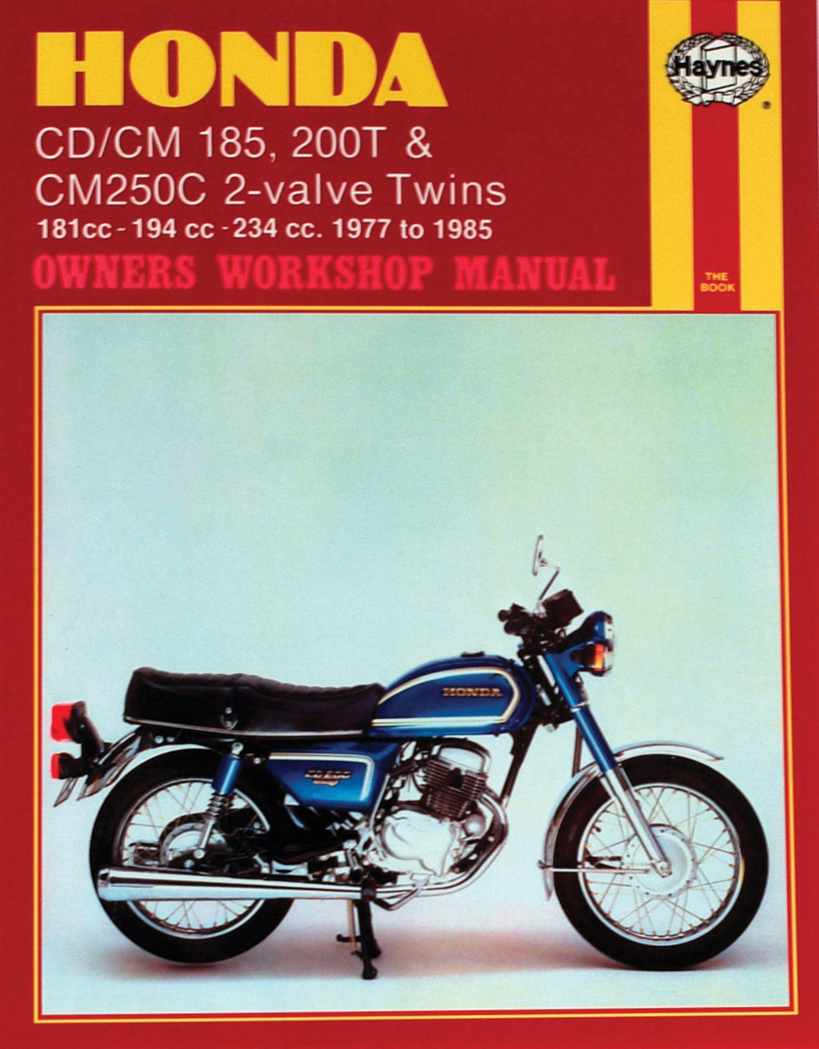 haynes m572 repair manual for 1977 83 honda cd cm 185 200t cm250c 2 rh pinterest com honda motorcycle manuals free downloads Honda Motorcycle Spec Manuals