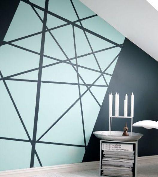 La peinture géométrique pour sublimer vos murs Pinterest Paint