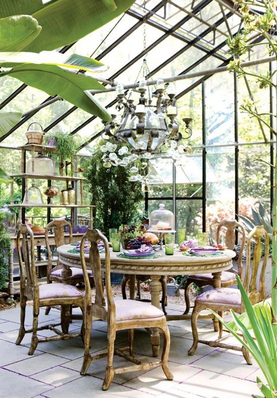 English tea party! Greenhouse = oh i just would love one of these conservatories