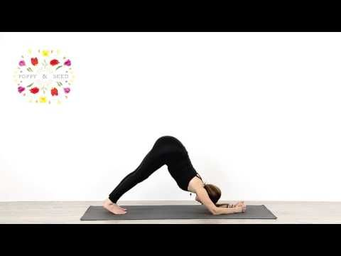 headstand  shoulder opening yoga practice  poppy and