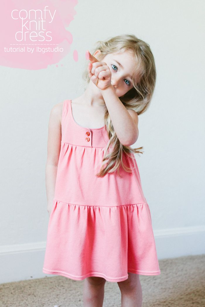 How to Sew a Jersey Knit Dress 2 Ways (Free Pattern) | sewing ...