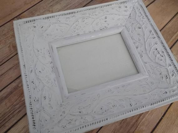 Frame 5x7 White Frame Home Decor Gift For Her 5 X 7 Frame Painted Frame 10 X 12 165 Painting Frames Frame White Frame