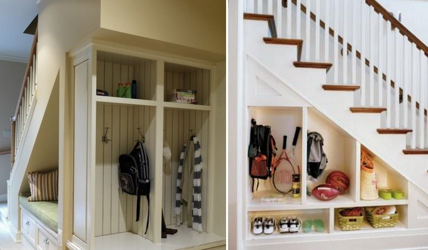 Ideen stauraum unter der treppe eingangsbereich ordnung schaffen