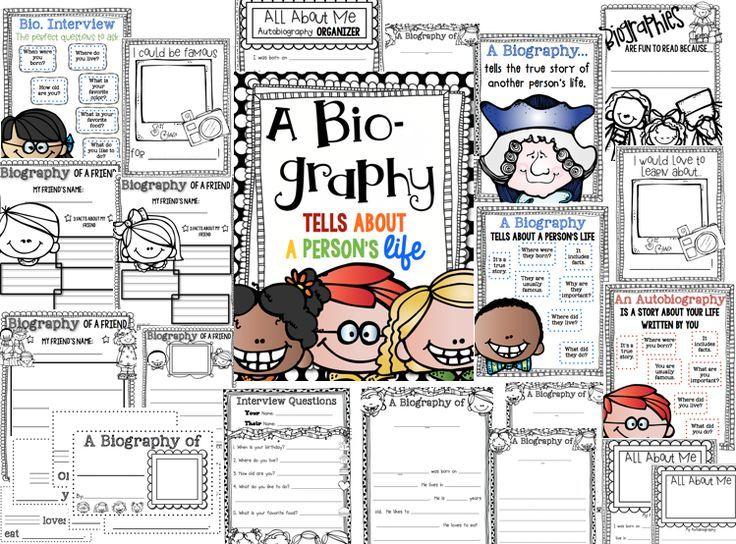 Writing Biographies! {FREEBIE} Follow for free \u0027too-neat-not-to