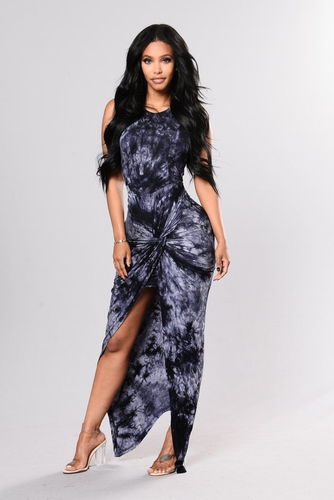 bb641e401e6 Navy Tie Dye Dress - Fashion Nova