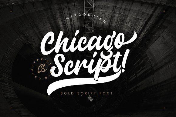 Download Chicago Script font @creativework247 | Script fonts, Free ...