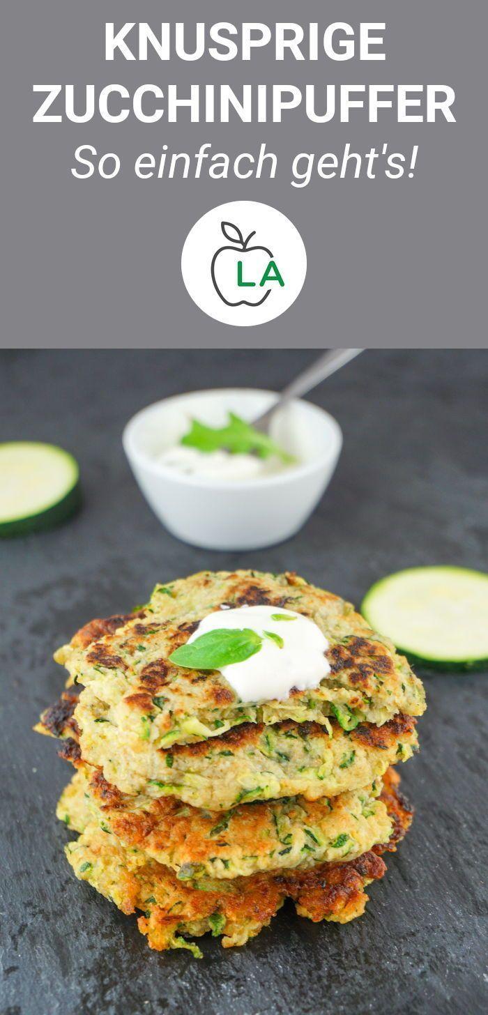Zucchini-Puffer-Rezept - kalorienarm, fettarm und gesund - Joel&GesundeRezepte
