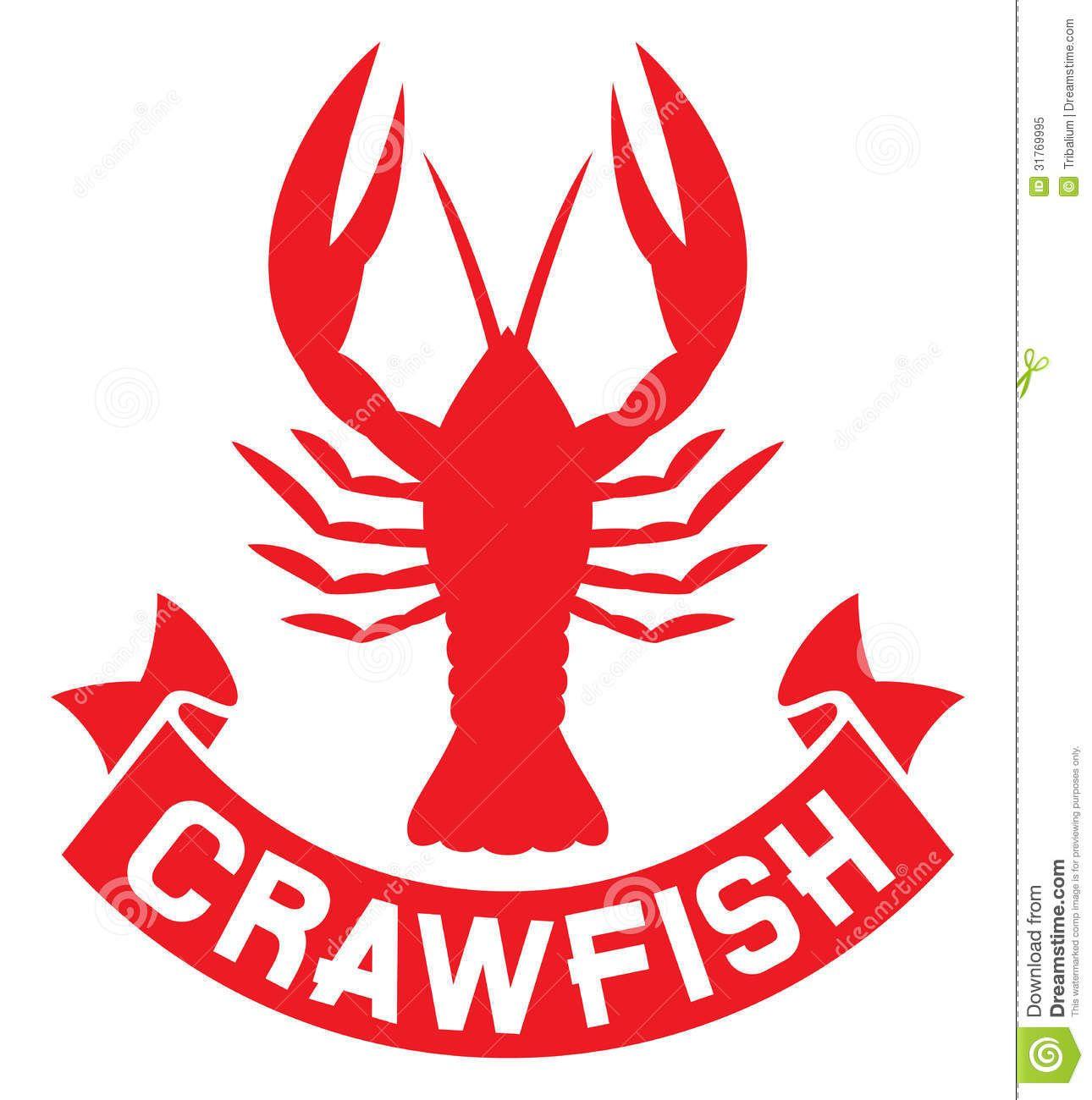 Crawfish Silhouette Crayfish Icon Lobster Sign Crawfish Symbol