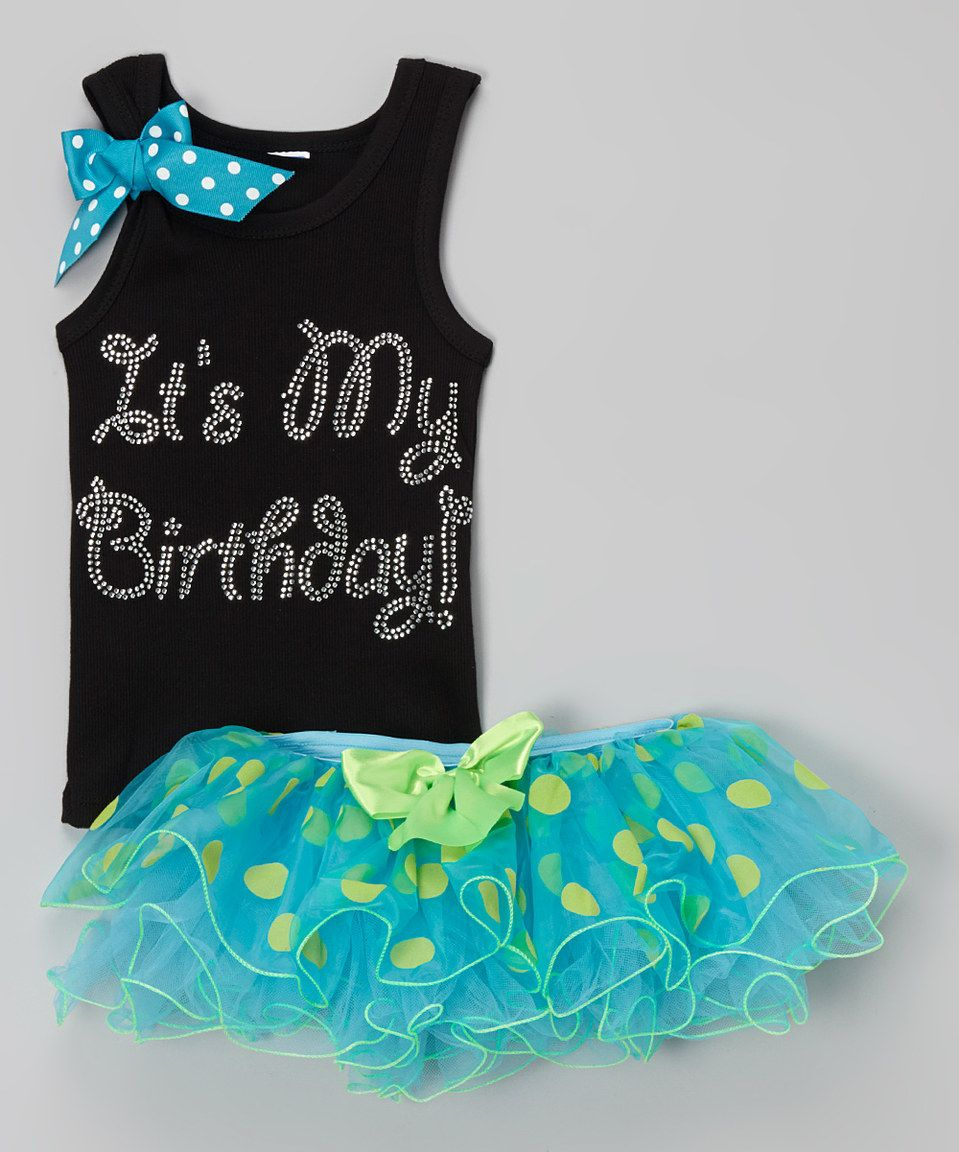 Another great find on #zulily! Turquoise 'It's My Birthday' Tutu Set - Toddler & Girls by So Girly & Twirly #zulilyfinds