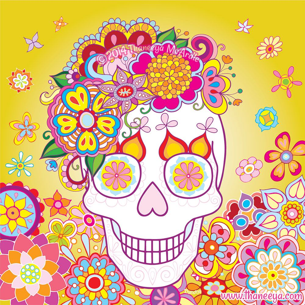 Sugar Skull Day Of The Dead Vector Art By Thaneeya McArdle