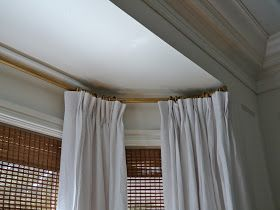 Information On Making Your Own Bay Window Curtain Rods With Elbow