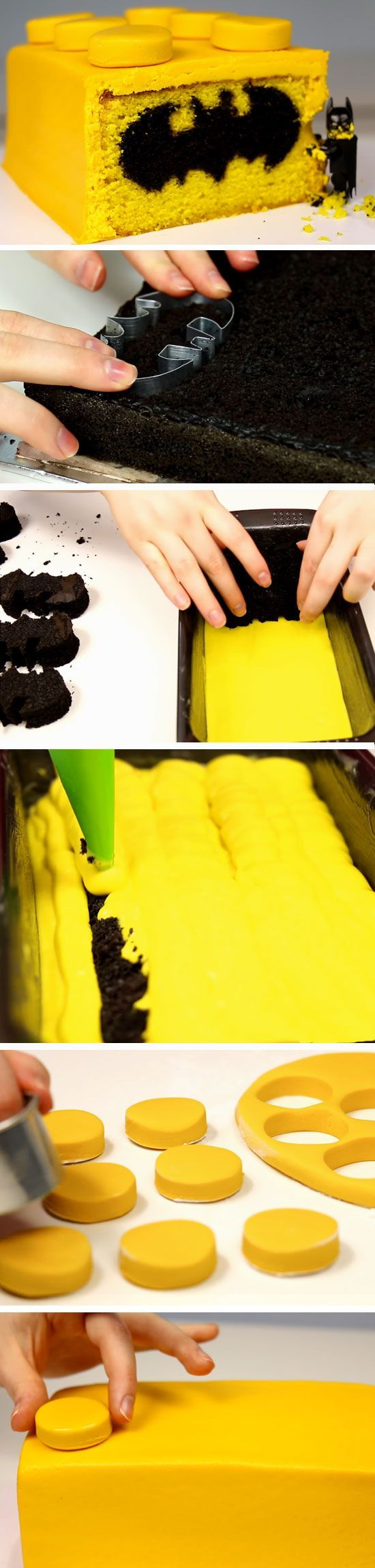 Lego Batman Cake | Birthday Party Ideas for Boys | DIY Halloween Party Food for Kids