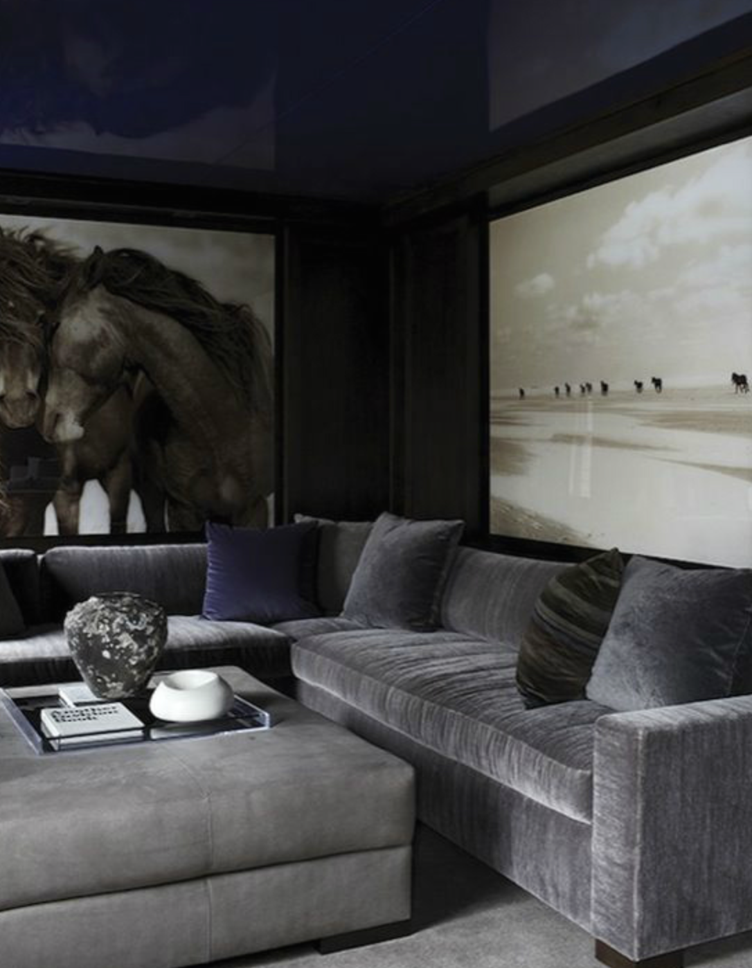Pin By Vanesscita On My Crib Laid Pinterest Living Room  ~ Heather Grey Sectional Sofa