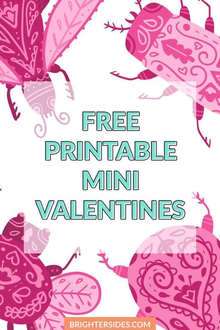 Free Printable Valentines - Cute As A Bug | Free printable ...