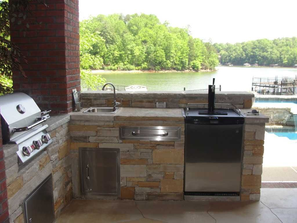 Image Result For Kitchen With Outdoor Kegerator Outdoor Kegerator Outdoor Kitchen Kegerator