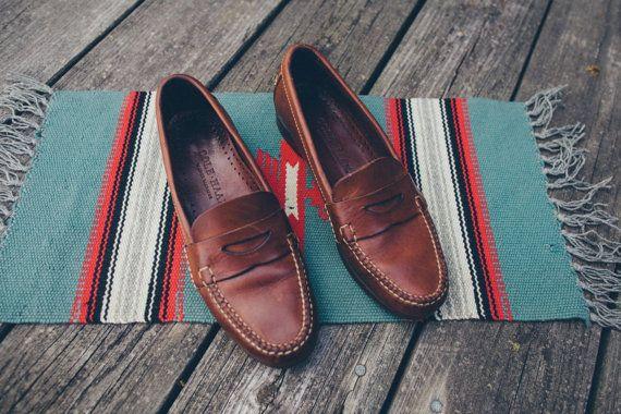 Vintage Cole Haan Slip On Brown Ivy Prep Loafers By