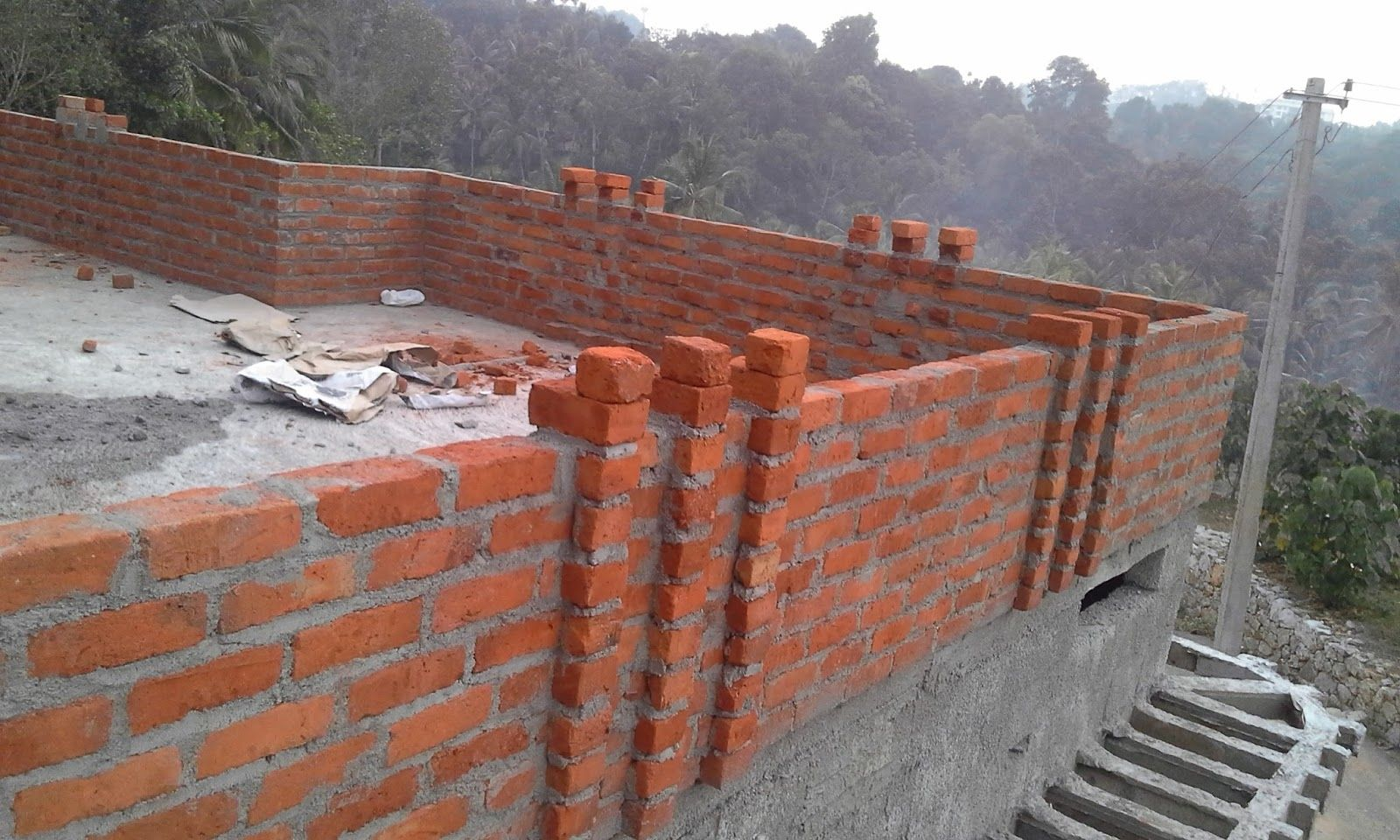 front wall plaster design house outside design on construction of walls id=48628